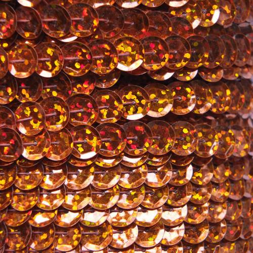 Sequin Trim 8mm Cup Orange Hologram Glitter Sparkle Metallic