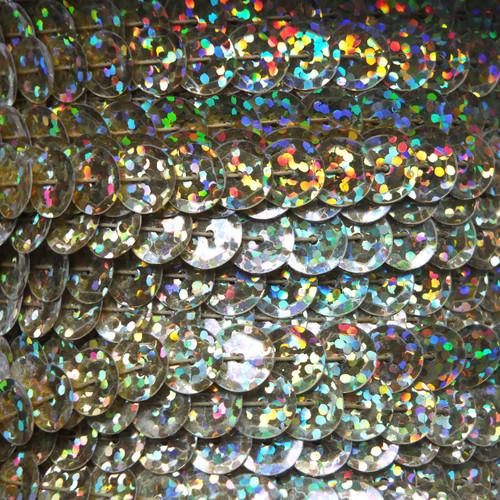 Sequin Trim 8mm Cup Gold Hologram Glitter Sparkle Metallic