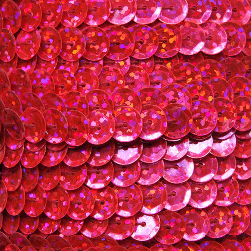 Sequin Trim 8mm Cup Hot Pink Hologram Glitter Sparkle Metallic