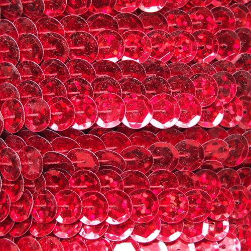 Sequin Trim 8mm Cup Red Hologram Glitter Sparkle Metallic