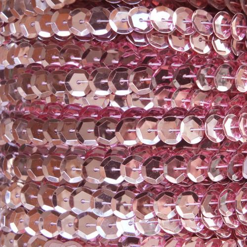 Sequin Trim 8mm Cup Pink Metallic