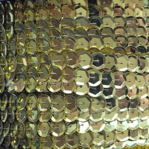Sequin Trim 8mm Cup Yellow Metallic