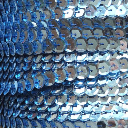 Sequin Trim 8mm Cup Light Blue Metallic