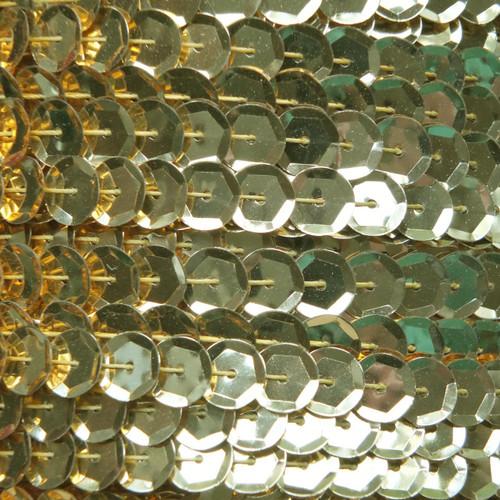 Sequin Trim 8mm Cup Gold Metallic