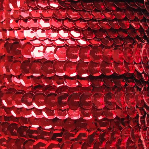 Sequin Trim 8mm Cup Red Metallic