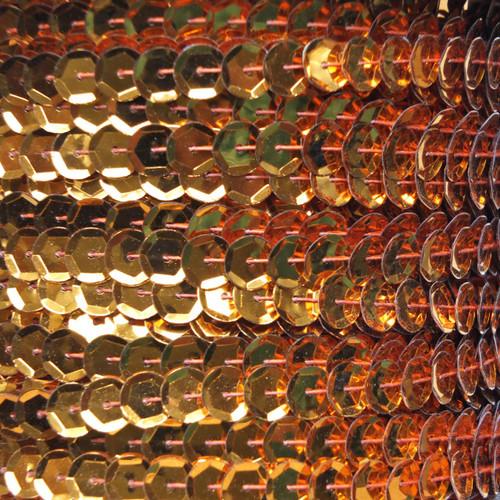 Sequin Trim 8mm Cup Orange Metallic