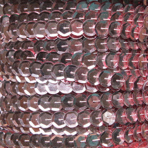 Sequin Trim 8mm Cup French Pink Metallic