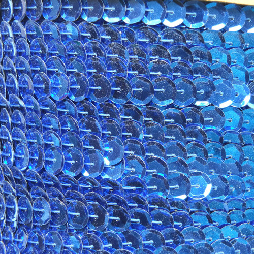Sequin Trim 8mm Cup Royal Blue Metallic