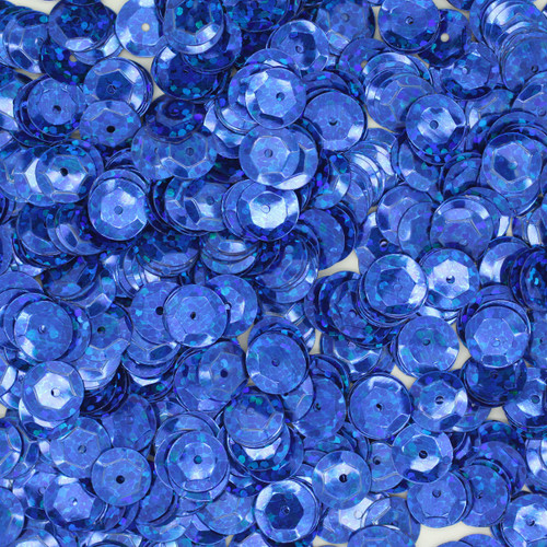 8mm Cup Sequins Royal Blue Hologram Glitter Sparkle Metallic