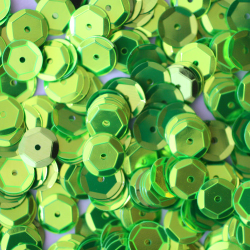 8mm Cup Sequins Lime Green Metallic