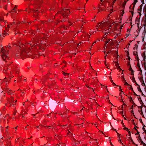 Sequin Trim 8mm Red Hologram Glitter Sparkle Metallic