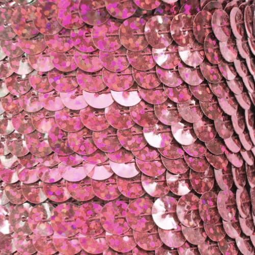 Sequin Trim 8mm Pink Hologram Glitter Sparkle Metallic