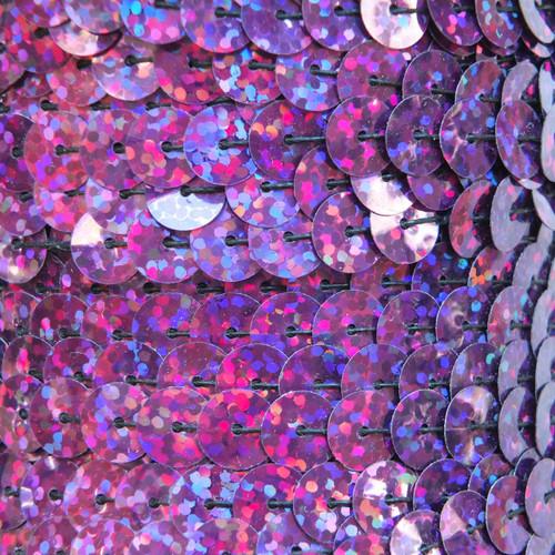 Sequin Trim 8mm Purple Violet Hologram Glitter Sparkle Metallic
