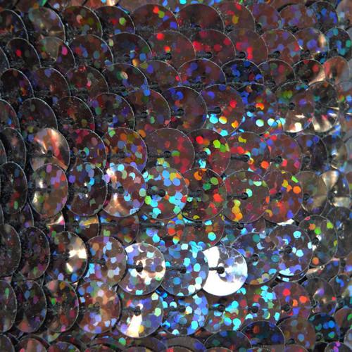 Sequin Trim 8mm Black Galactic Night Hologram Glitter Sparkle Metallic