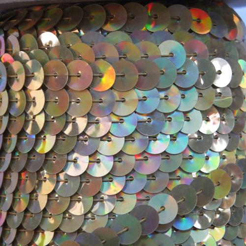 Sequin Trim 8mm Gold Lazersheen