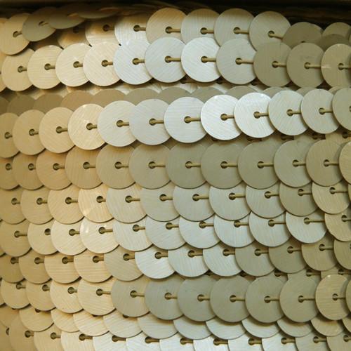 Sequin Trim 8mm Gold Matte Silk Frost