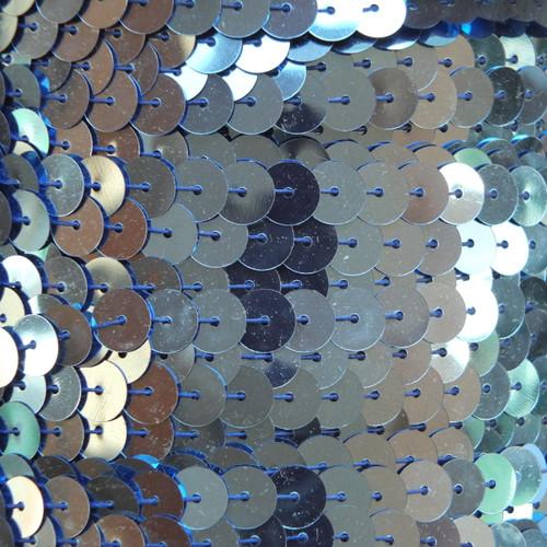 Sequin Trim 8mm Light Blue Metallic