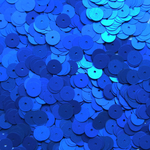8mm Sequins Royal Blue Matte Silk Frost