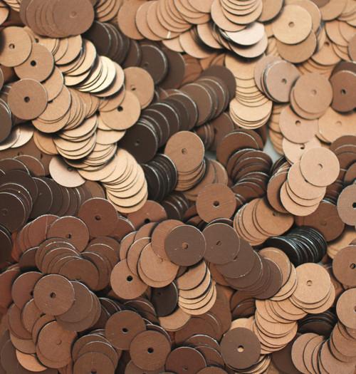 8mm Sequins Bronze Brown Matte Silk Frost
