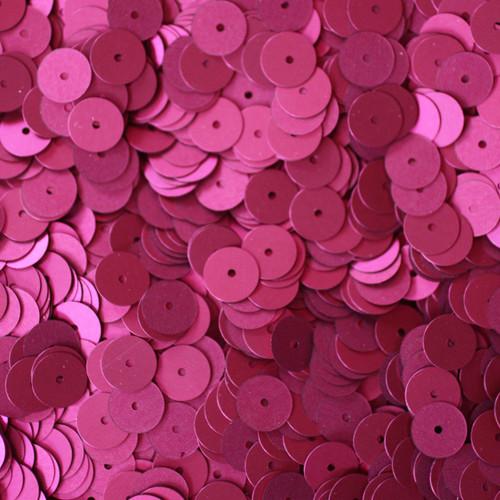 8mm Sequins Red Wine Burgundy Matte Silk Frost