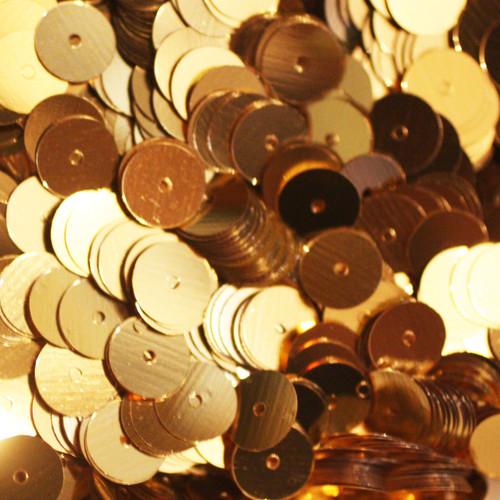 8mm Sequins Gold Metallic