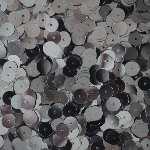 8mm Sequins Hematite Shiny Gray Metallic