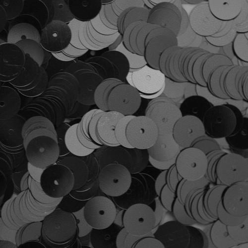 8mm Sequins Black Opaque