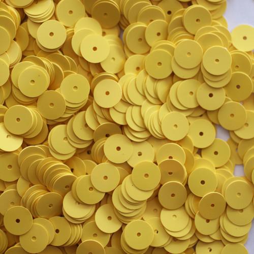 8mm Sequins Yellow Opaque