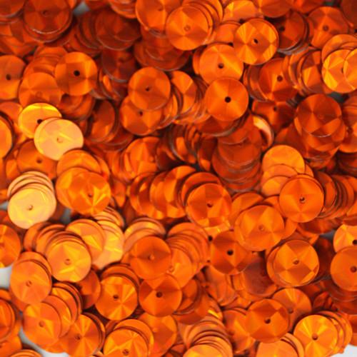 8mm Sequins Orange Prism Metallic