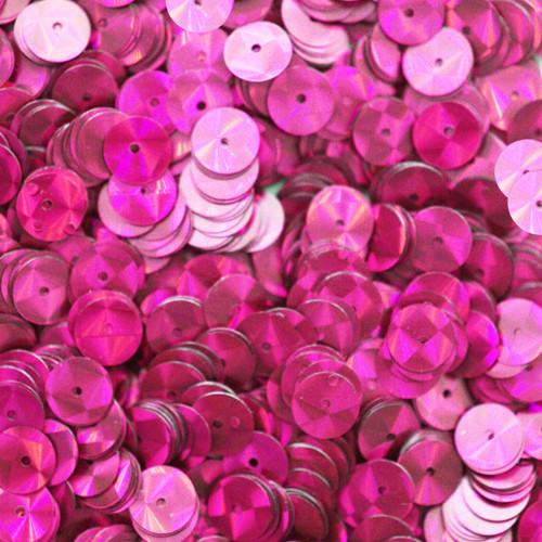 8mm Sequins Fuchsia Pink Prism Metallic