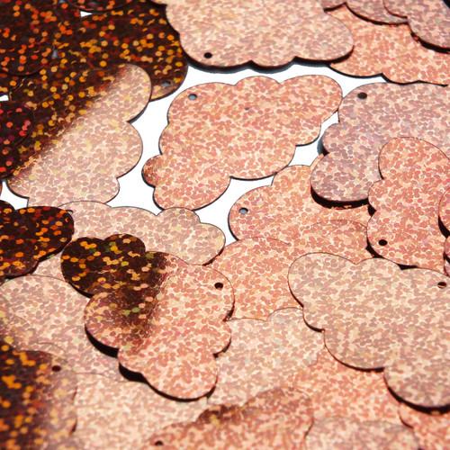 """Cloud Sequin 1.5"""" Copper Hologram Glitter Sparkle"""