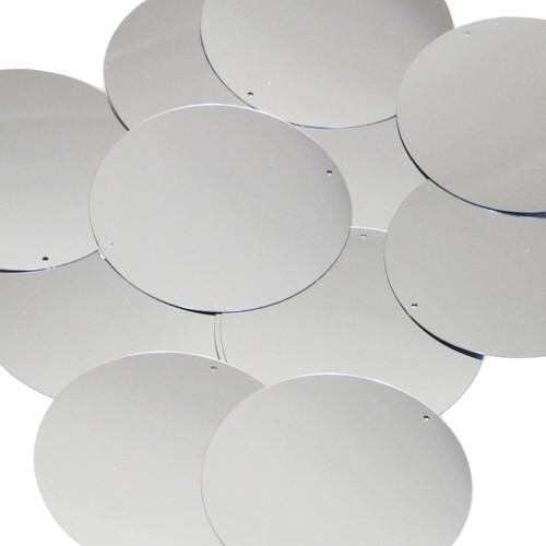 60mm Sequins Silver Metallic