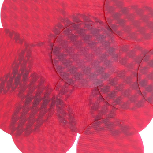 "2"" Sequins Red 3D Three Dimensional Reflector"