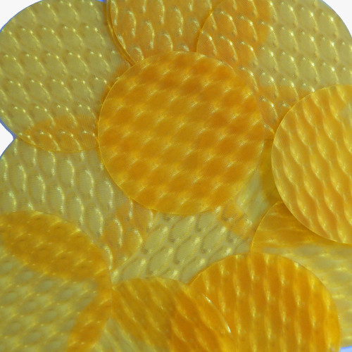 "2"" Sequins Yellow 3D Three Dimensional Reflector"