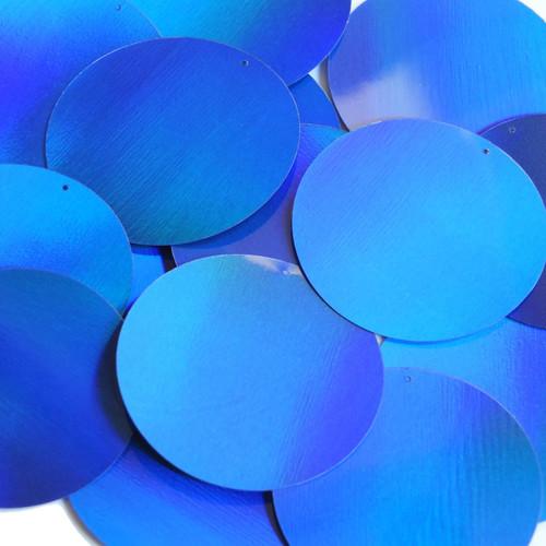 "2"" Sequins Blue Lazersheen Reflective Metallic"