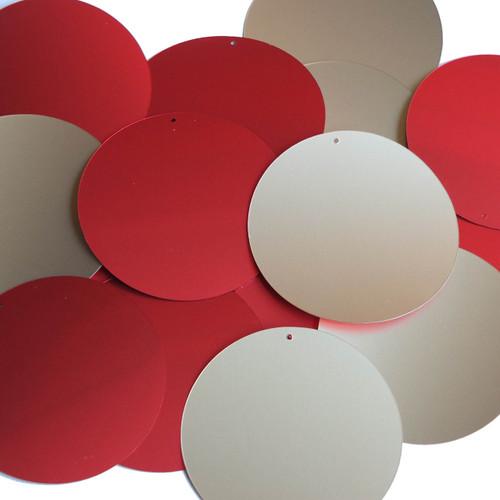 """2"""" Sequins Red Gold Matte Silk Frost Matte Silk Frost"""