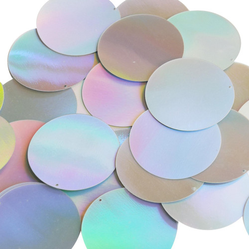 40mm Sequins Silver Lazersheen Reflective Metallic