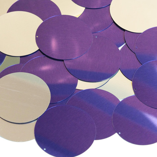 40mm Sequins Purple Silver Metallic