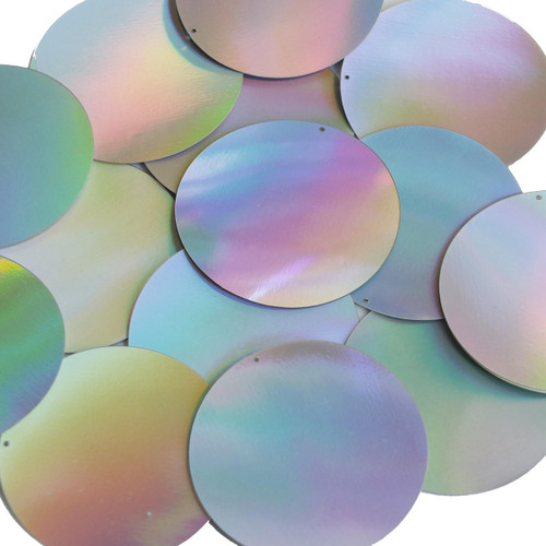 50mm Sequins Silver Lazersheen Reflective Metallic