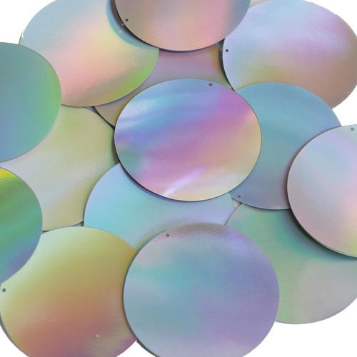 50mm Sequins Silver Lazersheen Reflective Metallic