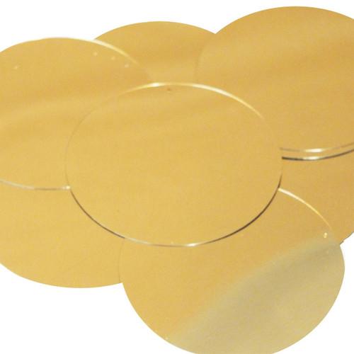 """6"""" Sequins Gold Metallic"""