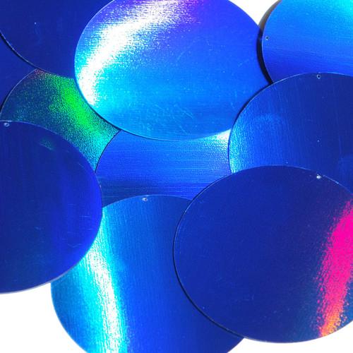 60mm Sequins Blue Lazersheen Reflective Metallic