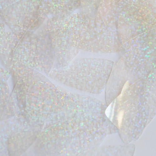 "Fishscale Fin Sequin 1.5"" Crystal Hologram Glitter Sparkle"