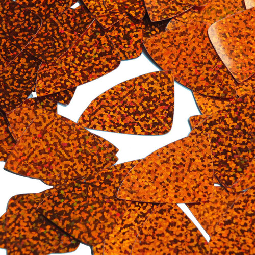 "Fishscale Fin Sequin 1.5"" Orange Hologram Glitter Sparkle Metallic"