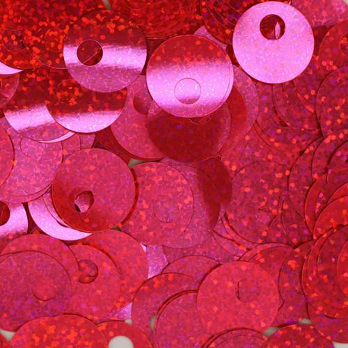 20mm Sequins Large Hole Hot Pink Hologram Glitter Sparkle Metallic