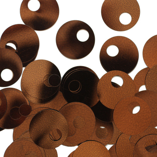20mm Sequins Large Hole Bronze Brown Metallic