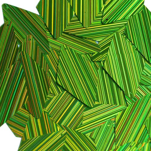 "Long Diamond Sequin 1.75"" Lime Green  City Lights Metallic Reflective"