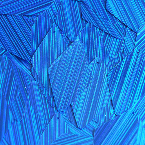 "Long Diamond Sequin 1.75"" Royal Blue City Lights Metallic Reflective"