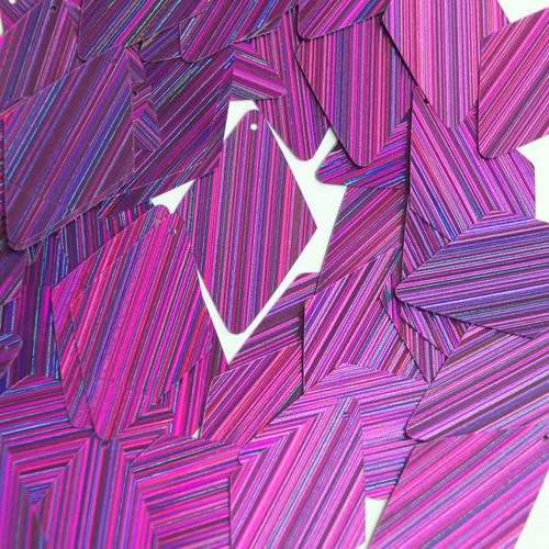 "Long Diamond Sequin 1.75"" Purple City Lights Metallic Reflective"
