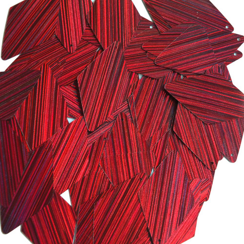 "Long Diamond Sequin 1.75"" Red Wine Burgundy City Lights Metallic Reflective"